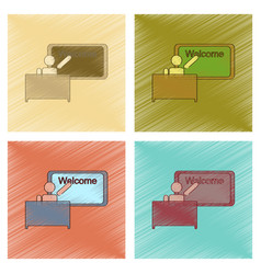 assembly flat shading style icon table board vector image
