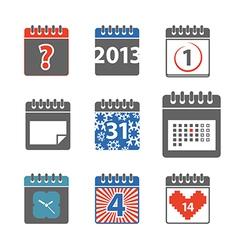 Calendar web icons collection vector image vector image