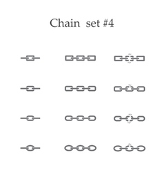 Chain set four vector image vector image