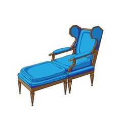 classic lounge chair vector image
