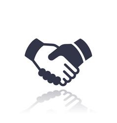 handshake deal partnership icon vector image vector image