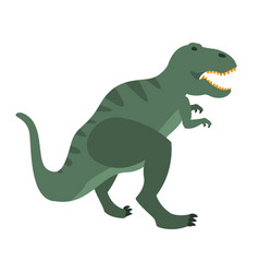 t-rex dinosaur of jurassic period prehistoric vector image vector image