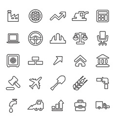 25 outline universal economy icons vector