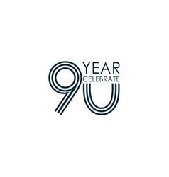 90 year anniversary celebration template design vector