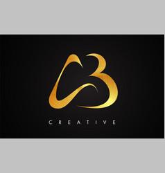 Ab gold golden letter modern trendy design logo vector
