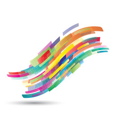 Abstract flowing wave shapes vector