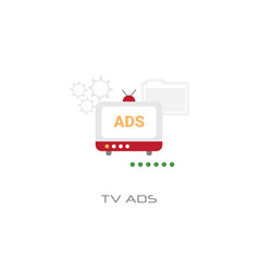 Advertisement marketing promotion tv ads concept vector