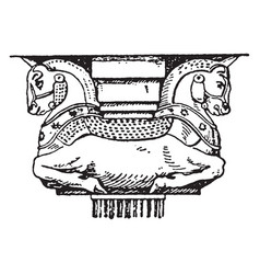 Ancient persian capital supports vector