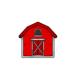 barn hand drawn design template isolated vector image
