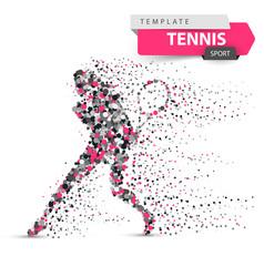 big tennis - dot sport template vector image