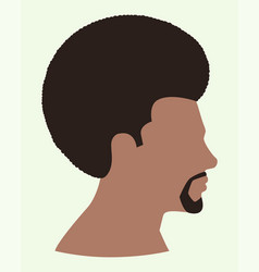 black man face with afro hair vector image