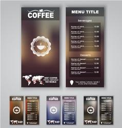 Blur menu 1 vector image