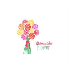 Bouquets flowers vector
