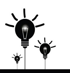 bulb set black vector image