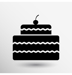Cake Design symbol logo dessert food sweet vector image