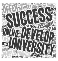 Can Success University Become Your Source For vector image vector image