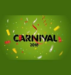 carnival invitation card vector image