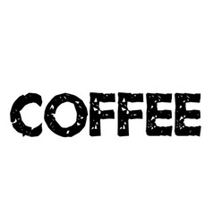 Coffee stamp label vector