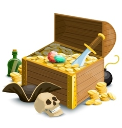 Composition with pirates accessories vector image