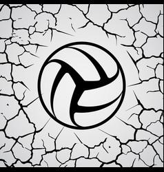 cracks circle volleyball vector image