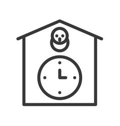 Cuckoo clock icon outline design editable stroke vector