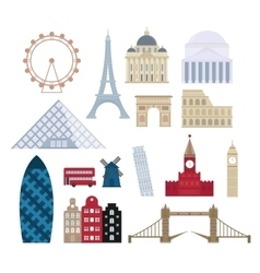 Eurotrip tourism buildings travel famous worlds vector image
