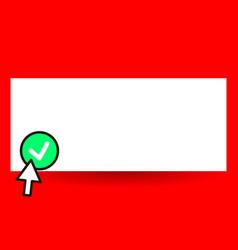 flat design business empty vector image