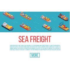 freight ships shipping delivery sea transport on vector image