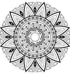 Geometric mandala vector image