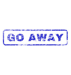 Go away rubber stamp vector
