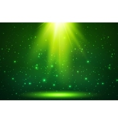 Green magic top light background vector