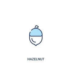 Hazelnut concept 2 colored icon simple line vector