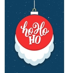 Ho Ho Ho Christmas greeting card vector image