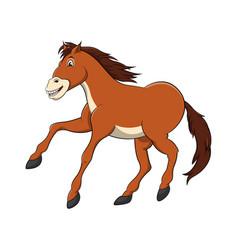 horse cartoon drawing vector image