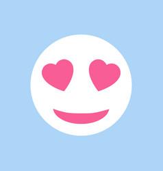 icon emoticon love in flat design love emoticon vector image