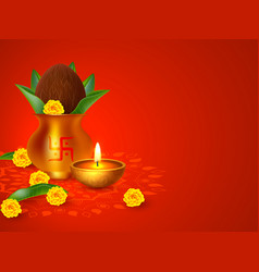 indian holiday background vector image