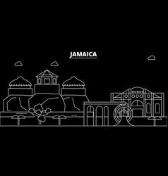 Jamaica silhouette skyline city jamaican vector