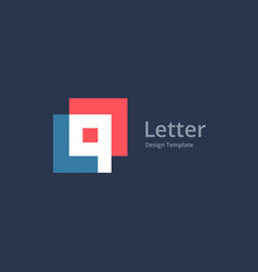 Letter q or number 9 logo icon design template vector