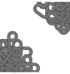 Line retro ornament vector