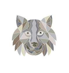 Lynx cat head low polygon vector