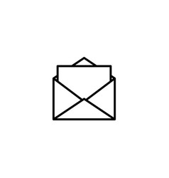 mail email icon vector image