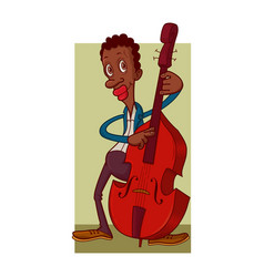 Man playing contrabass vector
