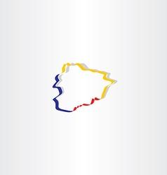 map of andorra icon vector image