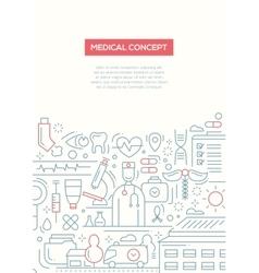 Medical Concept - line design brochure poster vector image