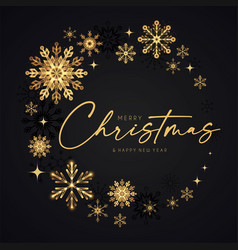 Merry christmas elegant holiday design vector