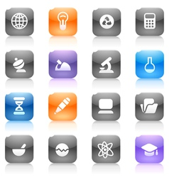 Multicolored buttons for science vector image