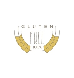No Gluten Product Label vector image