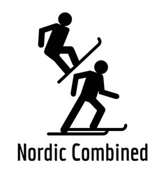 Nordic combined icon simple style vector