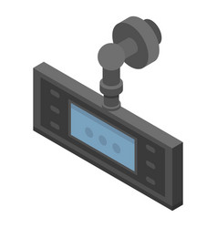 Portable dvr icon isometric style vector
