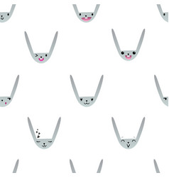 Rabbit emoticons pattern-11 vector